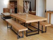 Стулья,  кофейные столики,  вешалки в стиле лофт,  ручная работа.